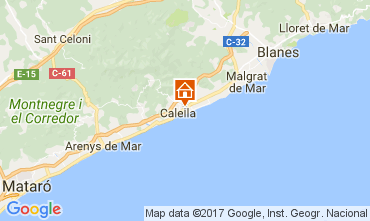 Kaart Calella de Mar Appartement 111108