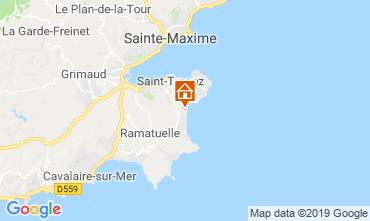 Kaart Saint Tropez Stacaravan 71680