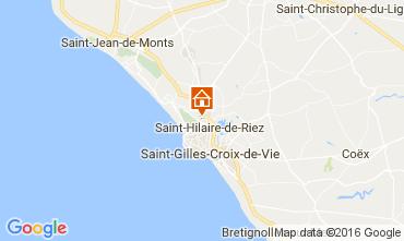 Kaart Saint Hilaire de Riez Stacaravan 107395