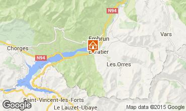 Kaart Les Orres Chalet 74692