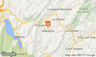 Kaart La Clusaz Chalet 81466