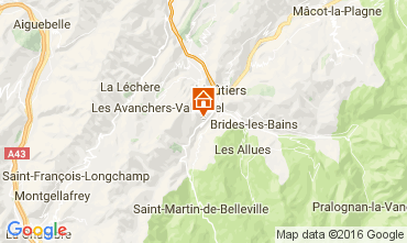 Kaart Saint Martin de Belleville Chalet 2645