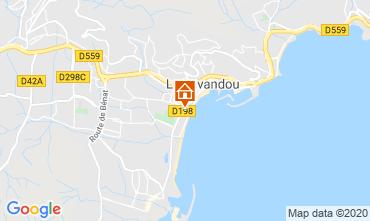 Kaart Le Lavandou Studio 95543