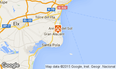 Kaart Santa Pola Appartement 56526