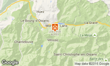 Kaart Les 2 Alpes Studio 66132