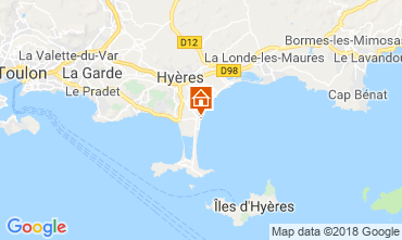Kaart Hyères Studio 116723