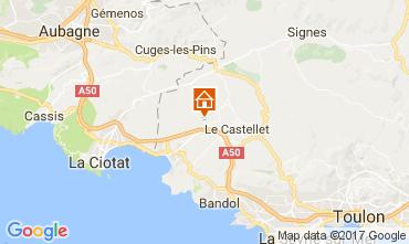 Kaart La Cadière d'Azur Stacaravan 77786