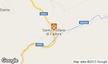 Kaart Santo Stefano di Cadore Appartement 80005