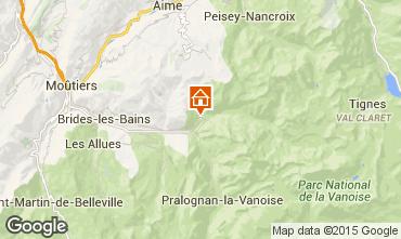 Kaart Champagny en Vanoise Appartement 578