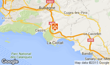 Kaart La Ciotat Villa 5926