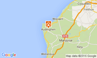 Kaart Wissant Vakantiehuis 105570