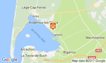 Kaart Andernos les Bains Villa 111085