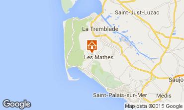 Kaart La Palmyre Stacaravan 101256
