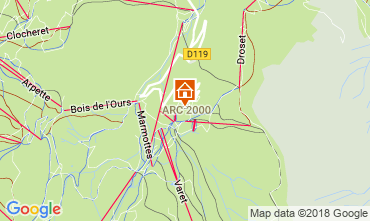 Kaart Les Arcs Appartement 101660