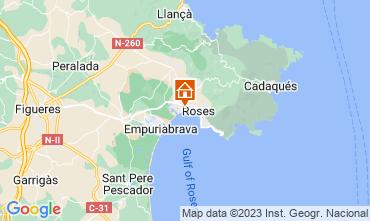 Kaart Rosas Appartement 63973