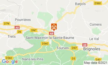 Kaart Saint Maximin la Sainte Baume Villa 112385