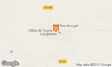 Kaart Les Saisies Studio 64146