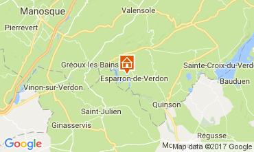 Kaart Esparron-de-Verdon Villa 108016
