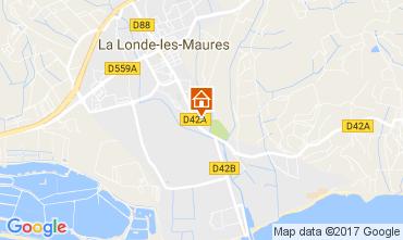 Kaart La Londe les Maures Huis 108421