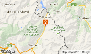 Kaart Chamonix Mont-Blanc Chalet 721