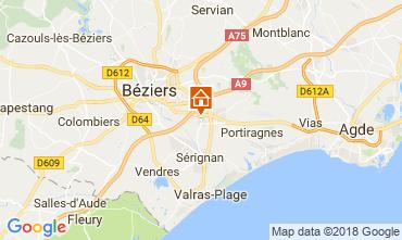 Kaart Beziers Bed & breakfast 114289