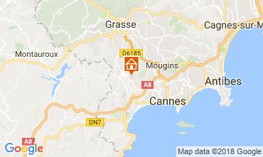 Kaart Cannes Vakantiehuis 112877