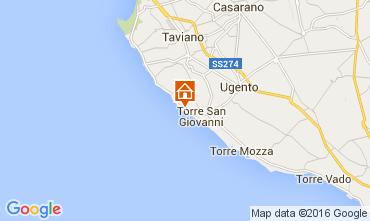 Kaart Ugento - Torre San Giovanni Studio 105887
