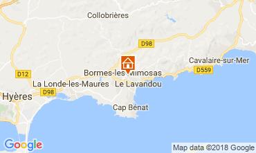 Kaart Bormes Les Mimosas Villa 114556