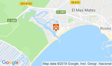 Kaart Rosas Appartement 8285