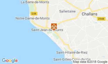 Kaart Saint Jean de Monts Stacaravan 117410