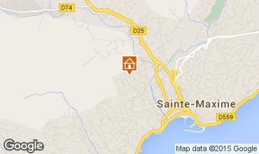 Kaart Sainte Maxime Studio 73333