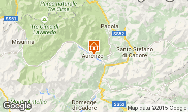 Kaart Auronzo di Cadore Appartement 95424