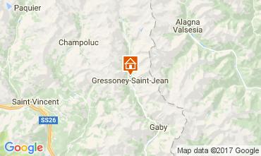 Kaart Gressoney Saint Jean Chalet 111344
