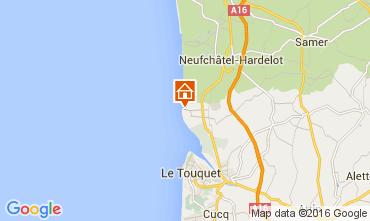 Kaart Le Touquet Villa 74740