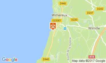 Kaart Wimereux Appartement 108802