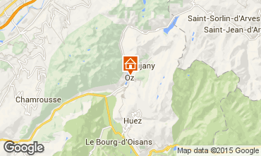 Kaart Oz en Oisans Studio 74603