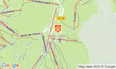 Kaart Les Arcs Studio 209