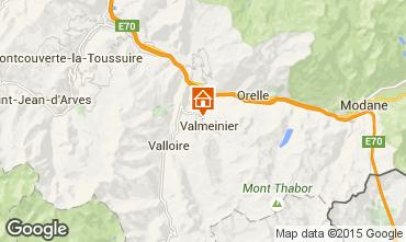 Kaart Valmeinier Chalet 3441