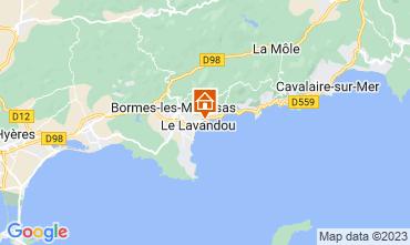 Kaart Le Lavandou Appartement 107760