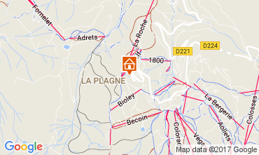 Kaart La Plagne Appartement 112379