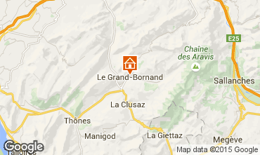 Kaart Le Grand Bornand Studio 42969