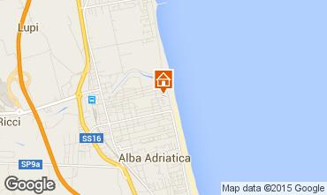 Kaart Alba Adriatica Appartement 93590