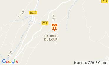 Kaart Superdévoluy- La Joue du Loup Chalet 1555