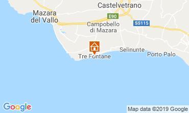 Kaart Mazara del Vallo Villa 105374