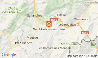 Kaart Saint-Gervais-les-Bains Appartement 82224