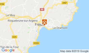Kaart Fréjus Appartement 104565