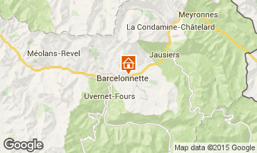 Kaart Barcelonnette Appartement 79291
