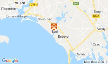 Kaart Etel/Ria d'Etel Appartement 116267
