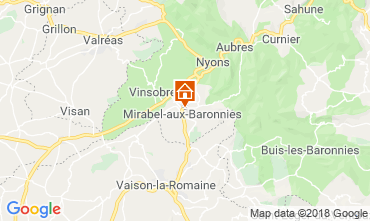 Kaart Nyons Villa 117379
