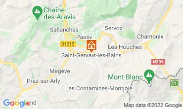 Kaart Saint Gervais Mont-Blanc Appartement 66844